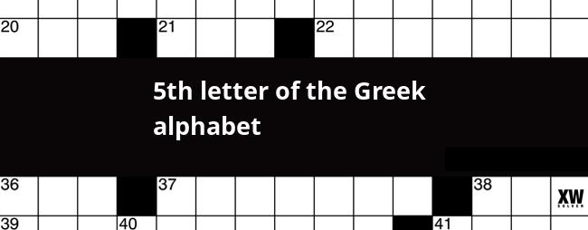 5th Letter Of Greek Alphabet Crossword Clue   Photos Alphabet