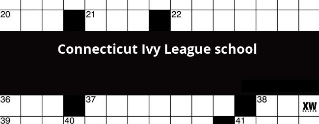 Connecticut Ivy League School Crossword Clue