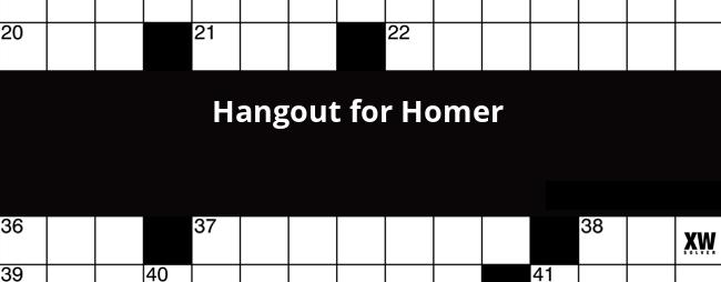 Hangout For Homer Crossword Clue