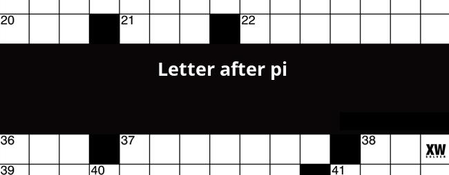 Letter after pi crossword clue