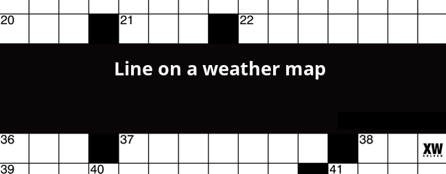Line on a weather map crossword clue