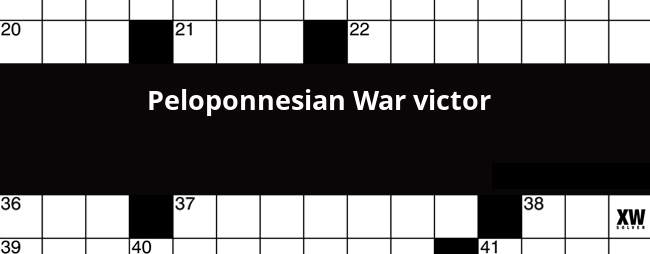 Peloponnesian War Victor Crossword Clue