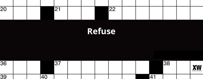 image regarding Eugene Sheffer Crossword Puzzle Printable named Refuse