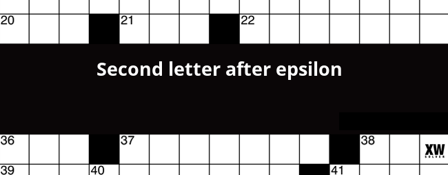 Second letter after epsilon crossword clue