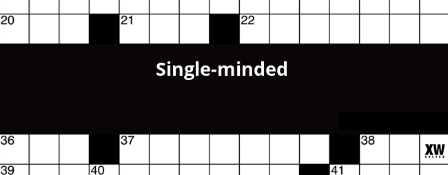 Single minded enthusiast crossword clue